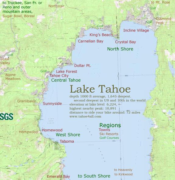 Tahoe All - North lake tahoe map